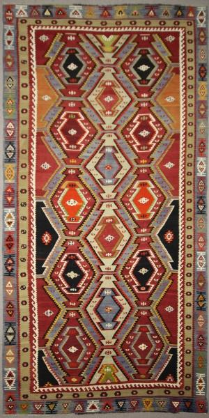 Wonderful Vintage Turkish Kilims R7826