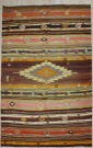 R7494 Antique Turkish Cal Kilim Rug