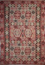 R4167 Antique Turkish Esme Kilim Rug