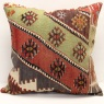 XL395 Antique Turkish Kilim Cushion Cover