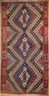 R1954 Antique Turkish Malatya Kilim Rug