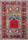 R4425 Antique Turkish Mujur Rug