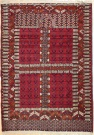 R5541 Antique Turkmenistan Ensi Rug
