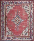 R4945 Antique Ushak Turkish Kilim Rug