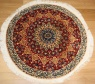 R8604 Persian round Silk and wool Nain Rugs