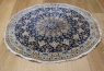 R8605 Persian round Silk and wool Nain Rugs