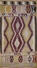 R8718 Vintage Turkish Antalya Kilim Rug