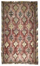 R3897 Vintage Turkish Handwoven Sarkisla Kilim Rug