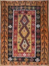 R8052 Vintage Turkish Kilim Rug