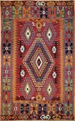 R8141 Vintage Turkish Kilim Rug