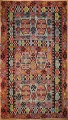 R8498 Vintage Turkish Kilim Rug