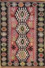 R8713 Vintage Turkish Kilim Rug