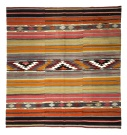 R8149 Vintage Turkish Kilim Rug