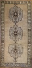 R3703 Vintage Ushak Turkish Carpet Runner