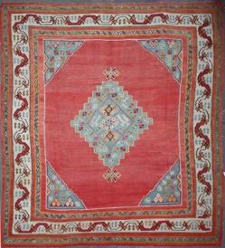 Beautiful Antique Turkish Large Ushak Kilim Rug R4946