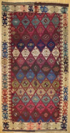 R6924 Antique Turkish Kilim