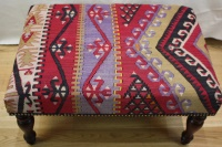 R4752 Antique Turkish Kilim Stools