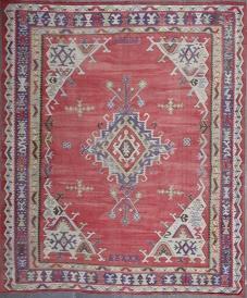 R4945 Antique Ushak Turkish Kilim Rug