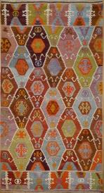 R8218 Vintage Turkish Barak Kilim Rugs
