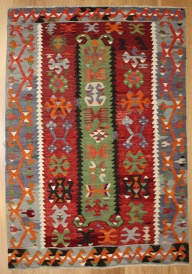 R8175 Vintage Turkish Esme Kilim Rugs