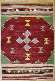 R8185 Vintage Turkish Kilim Rug