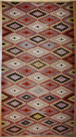 R8210 Vintage Turkish Kilim Rug